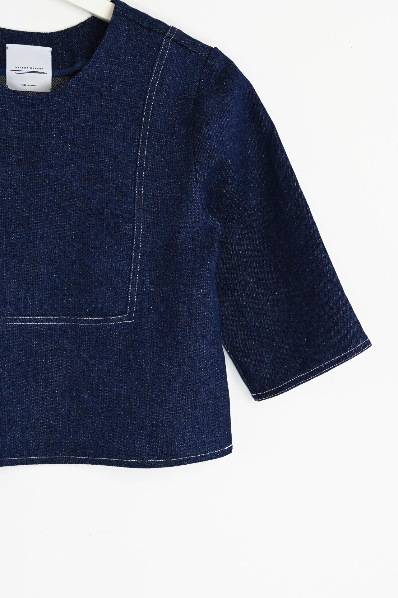 Gartenshirt indigo - Detailansicht