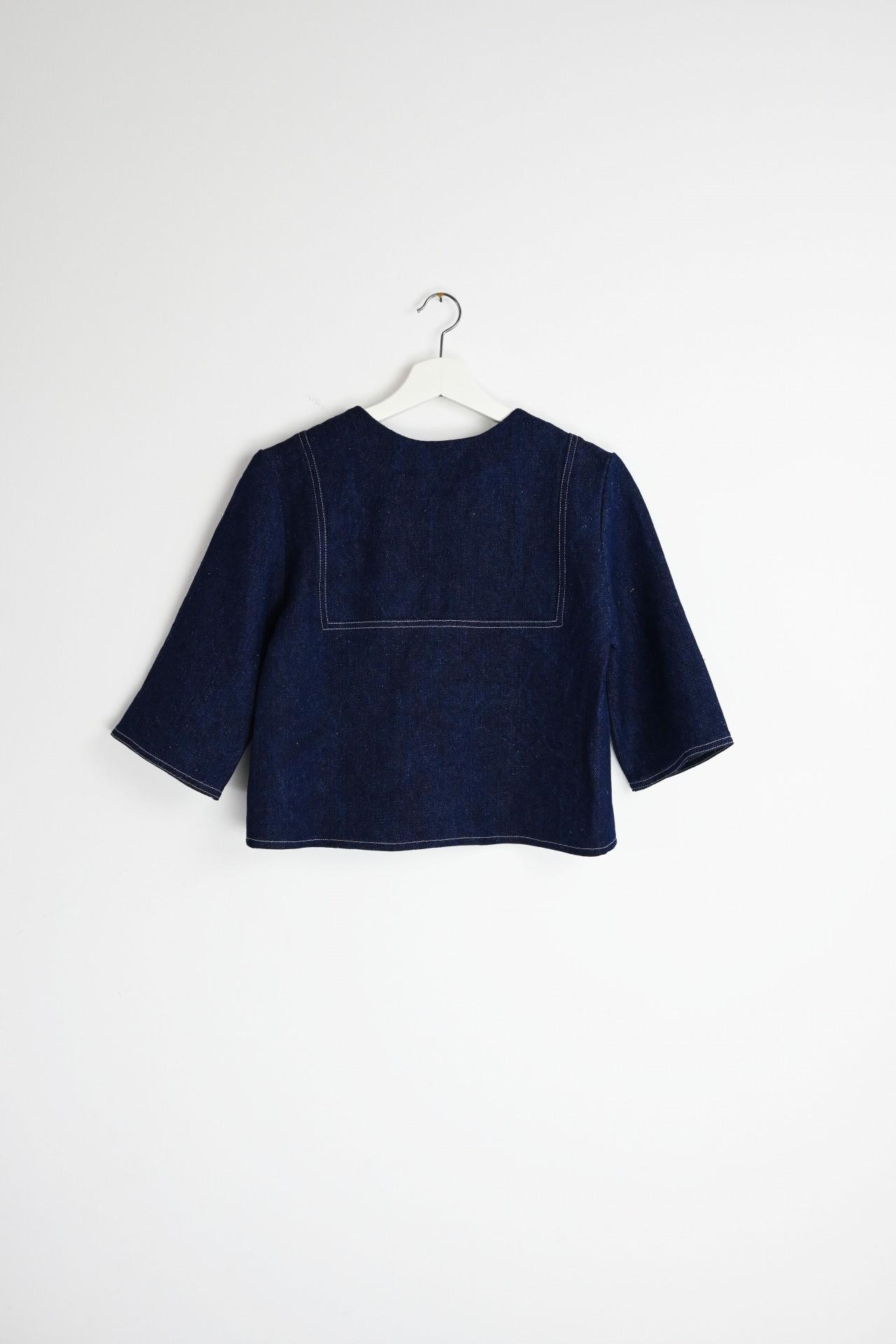 Gartenshirt indigo - Rückansicht